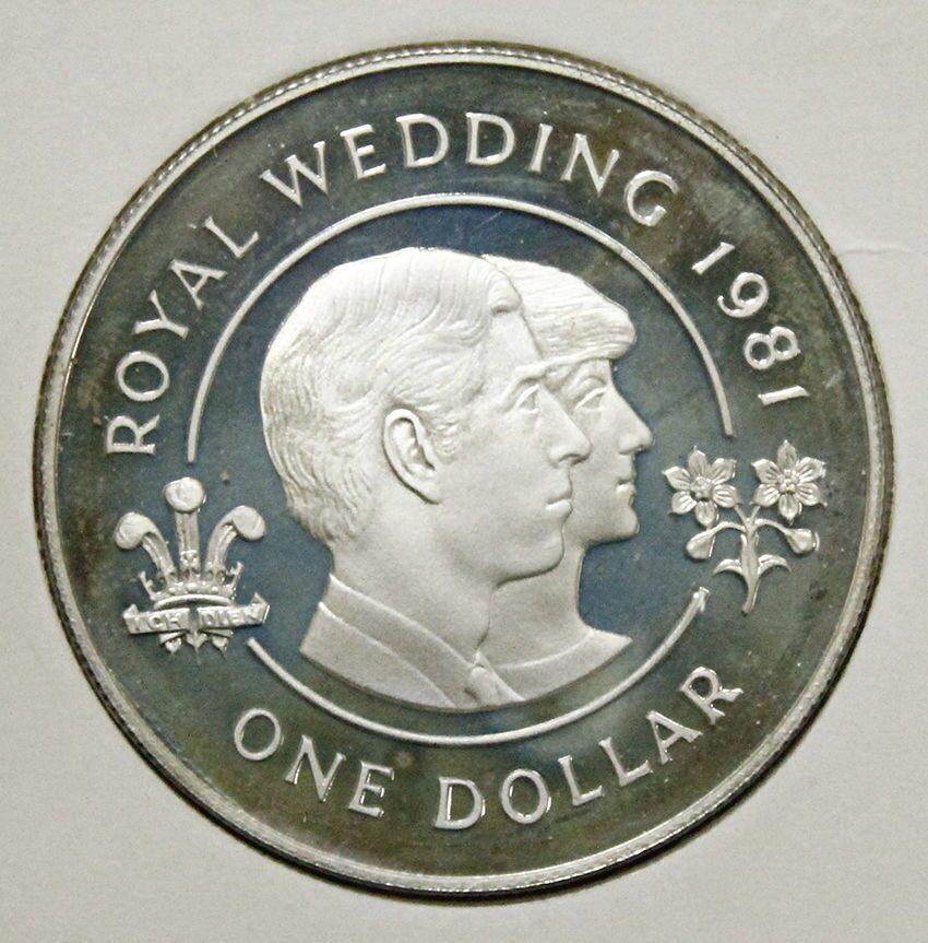 Монета на свадьбу чарльза и дианы